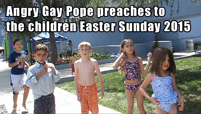 angry gay pope preaches to scientology children