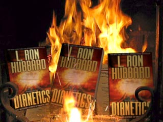 dianetics book burning