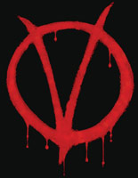 v for vendetta spray paint logo