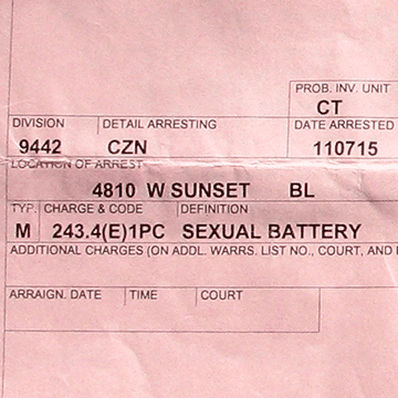 sexual battery arrest